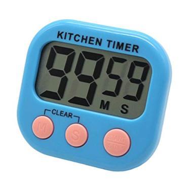 AmiAbi Cronômetro Eletrônico Doméstico Cronômetro Eletrônico Cozinha Cronômetro Digital P ortable Despertador Eletrônico Cronômetro de Laboratório Azul Ampla gama de aplicações: Este produto é ampla