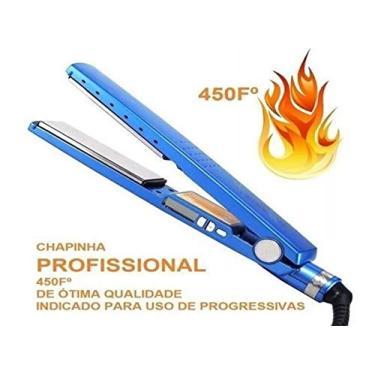 Chapinha Prancha Profissional Nano Titanium 450ºf Azul