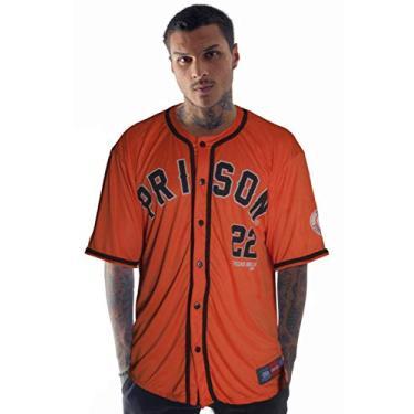 Camisa de Baseball Prison Texas 22 Laranja (Laranja, G)