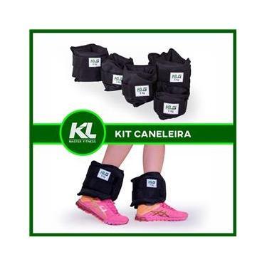 Kit Caneleira Tornozeleira De Peso 1,2,3 E 4kg Fixpor fechos de contato
