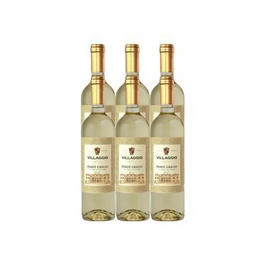Vinho Villaggio Pinot Grigio BCO 750ml - Caixa 6 Unidades