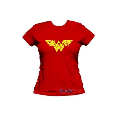 Camiseta Feminina Mulher Maravilha Baby Look