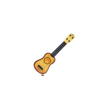 Mini Violão Infantil Acústico Brinquedo Criança 44cm Corda Aço Ajustáveis e Palheta Importway BW041