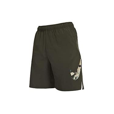 Imagem de Bermuda Nike Camo Masculina - Verde, Cor: Verde Militar, Tamanho: Eg