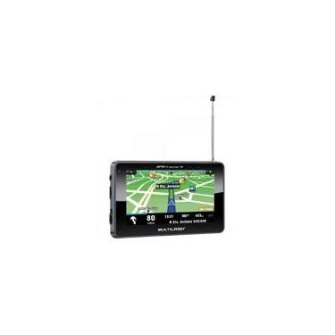 Imagem de Navegador GPS com TV/RADIO FM/LEITOR de USB/SD GP034 Preto Multilaser