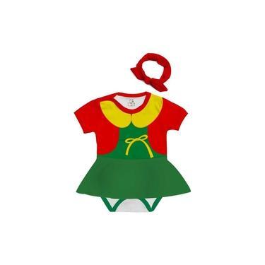Imagem de Body Bebê Saia Personalizado Fantasia Chaves Chiquinha