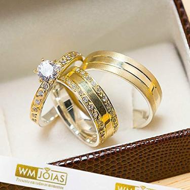 Imagem de Alianças de Casamento em Ouro e Prata WM10208