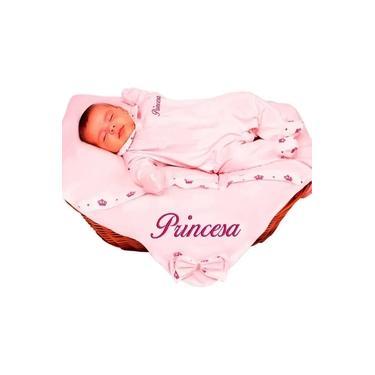 Saída de Maternidade Menina Princesa Rosa