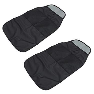 Imagem de VICASKY Esteiras Pontapé 2Pcs Organizador Do Banco Traseiro Do Carro Auto Saco de Armazenamento de Viagem Tela Tablet Pendurado Titular Back Seat Protetores para Auto Armazenamento