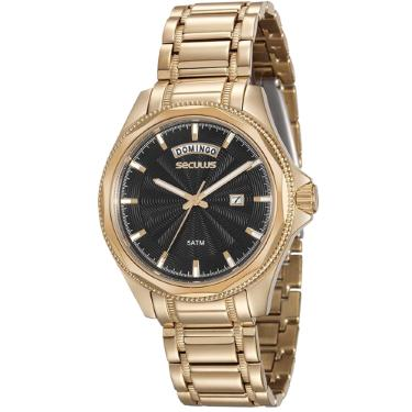 2c4c0662e19 Relógio Masculino Seculus 20459GPSVDA1 Dourado
