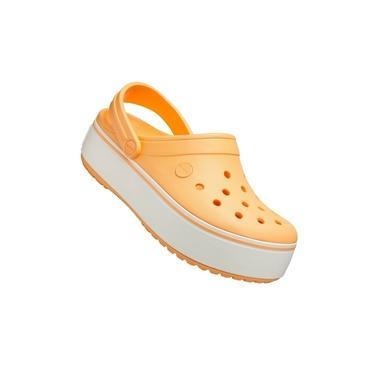 Crocs Crocband Plataforma Feminino Laranja