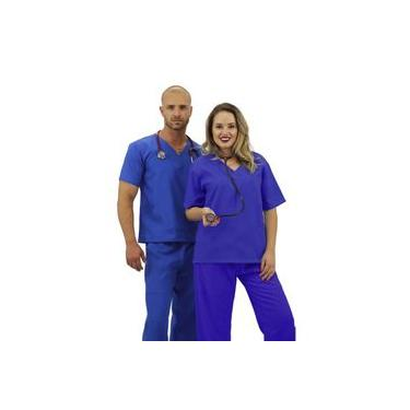 Pijama cirúrgico Oxford unissex Básico (azul cobalt)