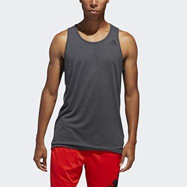 Regata masculina Adidas FreeLift Sport Prime para treino, Black/Heather, Small