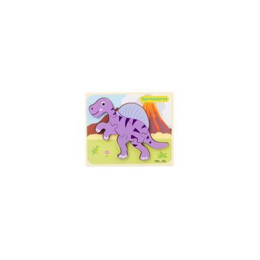 Imagem de Quebra-cabeças De Dinossauros De Madeira Para 1 2 Brinquedos Educativos Para Crianças De 3 Anos