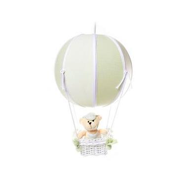 Lustre Balão Bolinha Urso Verde Quarto Bebê Infantil Menino