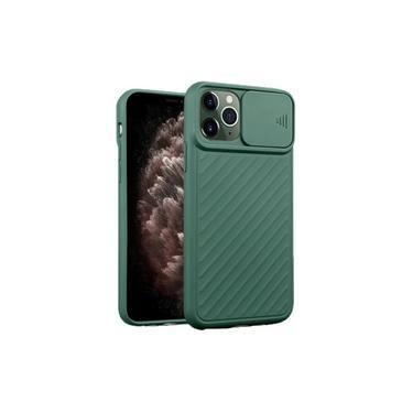 Capa em gel com proteção de lente da câmera para Apple iPhone 11 Pro Max - Verde