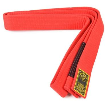 Faixa Pretorian Vermelha Ponta Preta Jiu Jitsu - 01