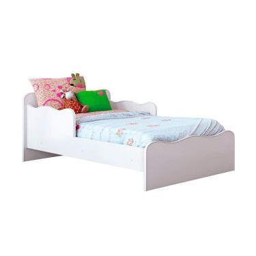 4012f2ff58 Mini Cama Infantil Soneca Baby Móveis Estrela - Branco