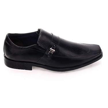 Sapato Social Masculino Ferracini Couro Liverpool 4058-281G Tamanho:41;Cor:Preto