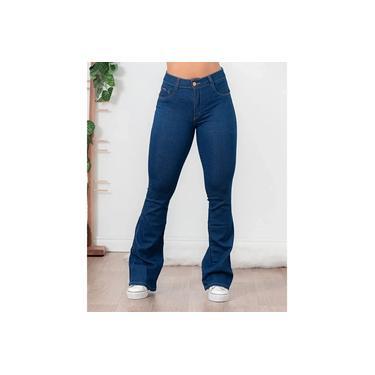 Calça Jeans Feminina Flare Biotipo Azul