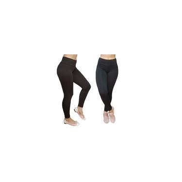 Imagem de Calça Legging Com Cintura Alta - Preta Não é transparente