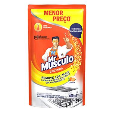 Limpador Desengordurante Mr Músculo Cozinha Refil Laranja 400ml Oferta Especial