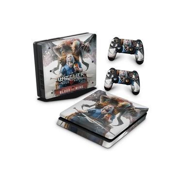 Skin Adesivo para PS4 Slim - The Witcher 3: Wild Hunt - Blood And Wine