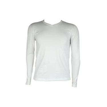 f949b0e196 Blusa Térmica Masculina Segunda Pele V Thermo Premium - Cor Branco