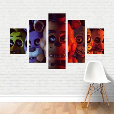 Quadro em tela Canvas  FNAF Five Nights at Freddy's 110x65