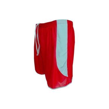 Calção modelo Copa Vermelho/Branco