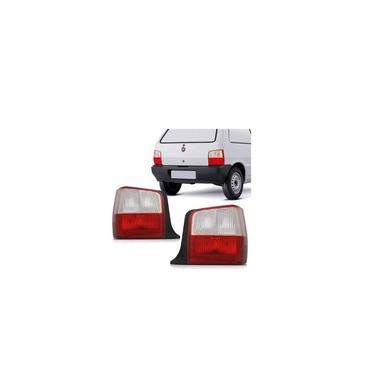 Lanterna Traseira Fiat Uno Fire 2004/2013 Bicolor - Rubi - Acrílico - Lado Esquerdo