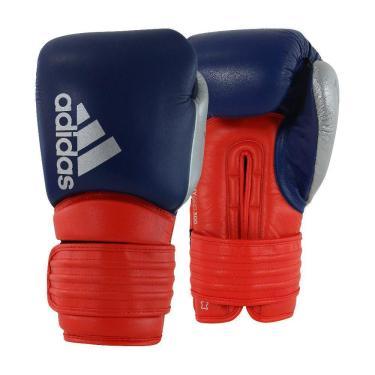 Luva De Boxe Hybrid 300 Azul E Vermelho 18 Oz Adidas