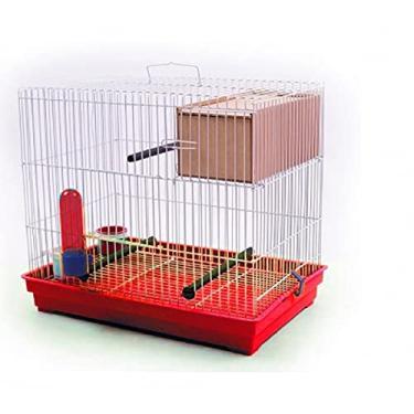 Gaiola Criadeira para Periquito e Pássaros Pequenos Completa com Ninho Vermelho