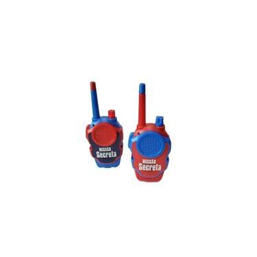Brinquedo 2 Walkie Talkie Infantil A Pilha Vermelho/Azul