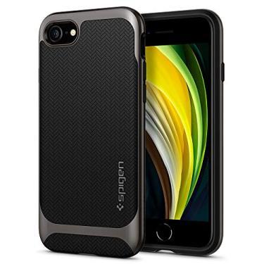Spigen Capa Neo Hybrid Herringbone Projectada para Apple iPhone SE (2020) / iPhone 8 / iPhone 7 - Cinza Metálico