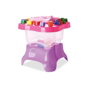 Imagem de Brinquedo Mesa de Atividades Baby Land - Menina -  Cardoso - Rosa/lilas - Ref 3003
