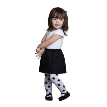 Meia-Calça, Lupo, Branco, 0 à 4 Meses, Lupo, Dots, 0 à 4 Meses Dots 0 à 4 Meses