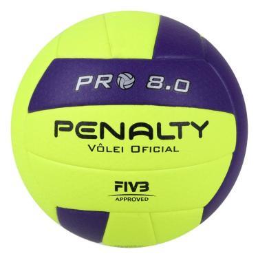 Bola Vôlei Penalty 8.0 Pro IX 541582-2400, Cor: Amarelo/Roxo, Tamanho: ÚNICO