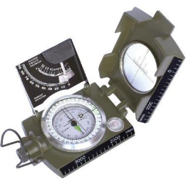 Bussola Profissional Tipo Militar K-4074 41148 - Escala Ma?trica Graduada - Tabela para Calculo