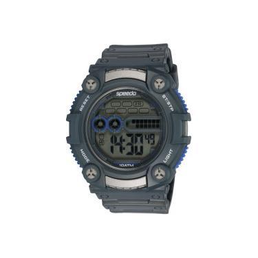 ee1ef66fcd5 Relógio Digital Speedo 80619G0 - Masculino - CINZA AZUL Speedo
