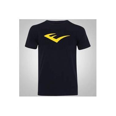 7ab1398bea Camiseta Algodão Básica Logo Amarelo Everlast