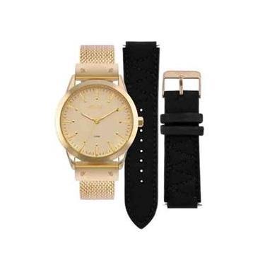 762ec9206f0 Relógio Euro Feminino Dourado   Troca Pulseira Eu2035yok 4d