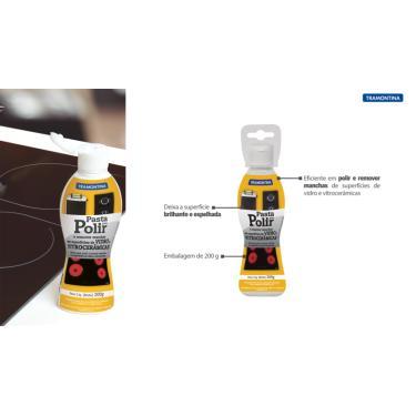 Pasta de limpeza para superfícies de Vidro e Vitrocerâmicas Tramontina 200 g  Tramontina 94537005