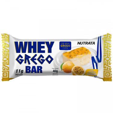 Imagem de Barra de Proteína Nutrata Whey Grego - 40g - Mousse de Maracujá Nutrata Unissex