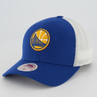 Boné Mitchell  Ness NBA Golden State Warriors Azul e Branco