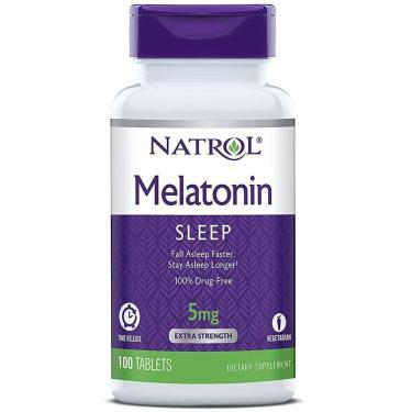 Melatonina Natrol - Time Release 5Mg (100 Tabletes)