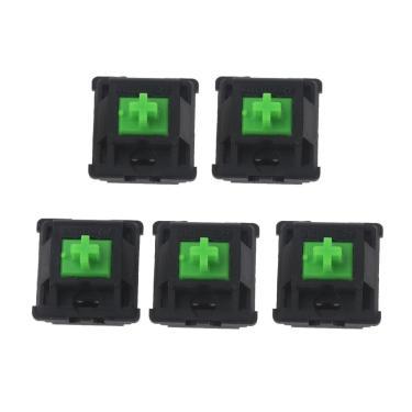 Botões verdes greetech para razer, teclado mecânico para cherry mx 3 pinos