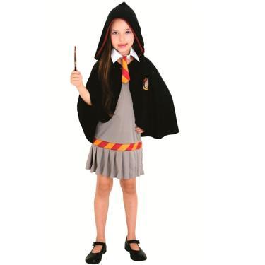 cb023b4dc9 Fantasia Hermione Infantil Grifinória (Harry Potter) Sulamericana - G 9 - 12
