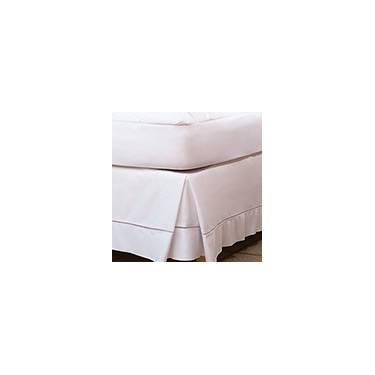 Imagem de Saia para Cama Box Solteiro Lisomax Branca Fibrasca - 96x203cm