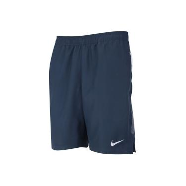Bermuda Nike Court Dry 9In - Masculina - AZUL ESC BRANCO Nike 96fea6846d451